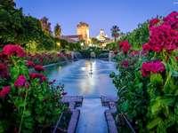 Castle, Fountain online puzzle