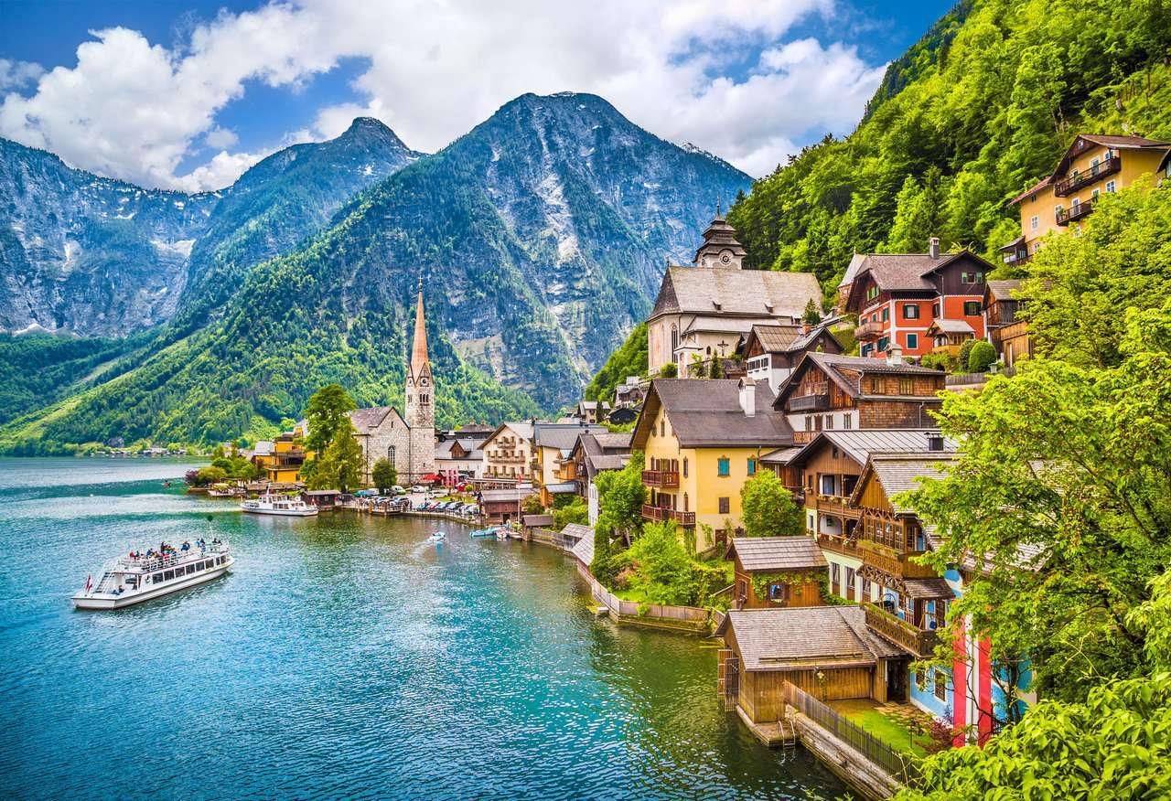 Hallstatt Mountain Village. puzzle online