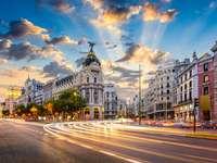 Calle de Alcala in Madrid