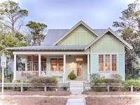 Casa de madeira em Califórnia