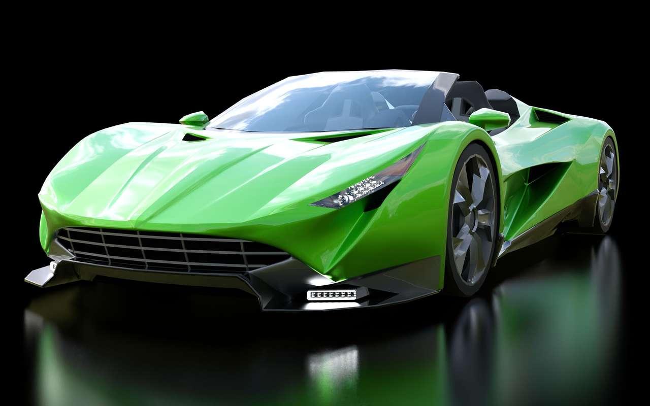 Green Sports Cabrio.