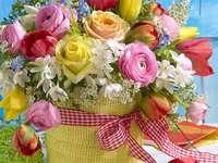 Velká kytice květin