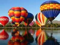 Balloons at the start