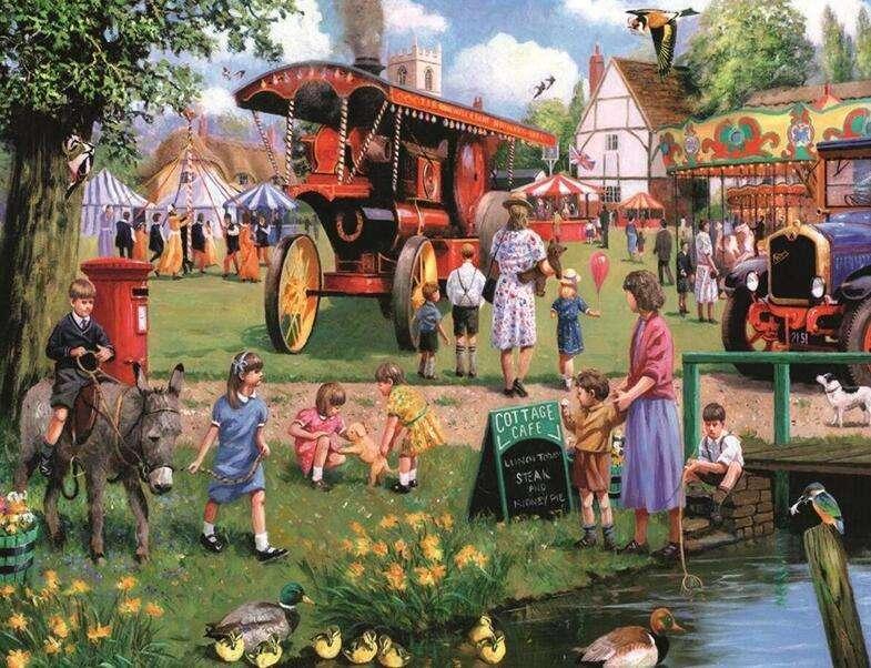 Szczęśliwa Kermesse we wsi puzzle