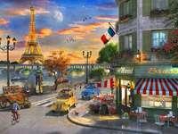 Na paryskiej ulicy.
