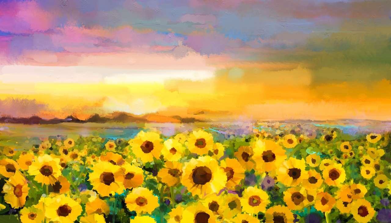 Golden Sunflower in fields
