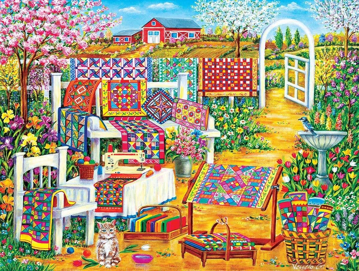 Barevné postelePreads. puzzle