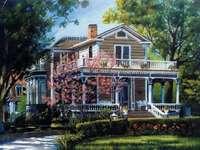 Casa de stil drăguță victoriană