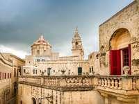Mdina en el centro de la isla de Malta.