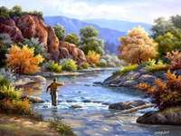 La pêche dans la rivière
