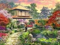 Wnętrze ogród w Japonii