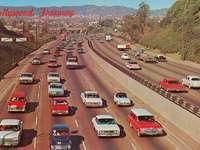 CIRCA 1960S Hollywood Freeway mirando hacia el norte