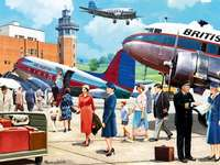 Boarding the Douglas DC3