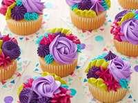 Kleurrijke muffins