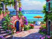 Vedere de pe terasa de mare