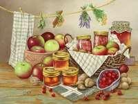Martwa natura (owoce i dżemy)
