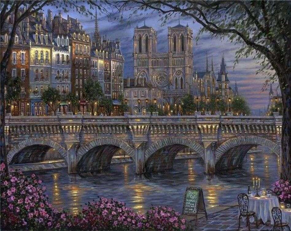 Ansicht von Paris Paris (Zeichnung) Puzzle