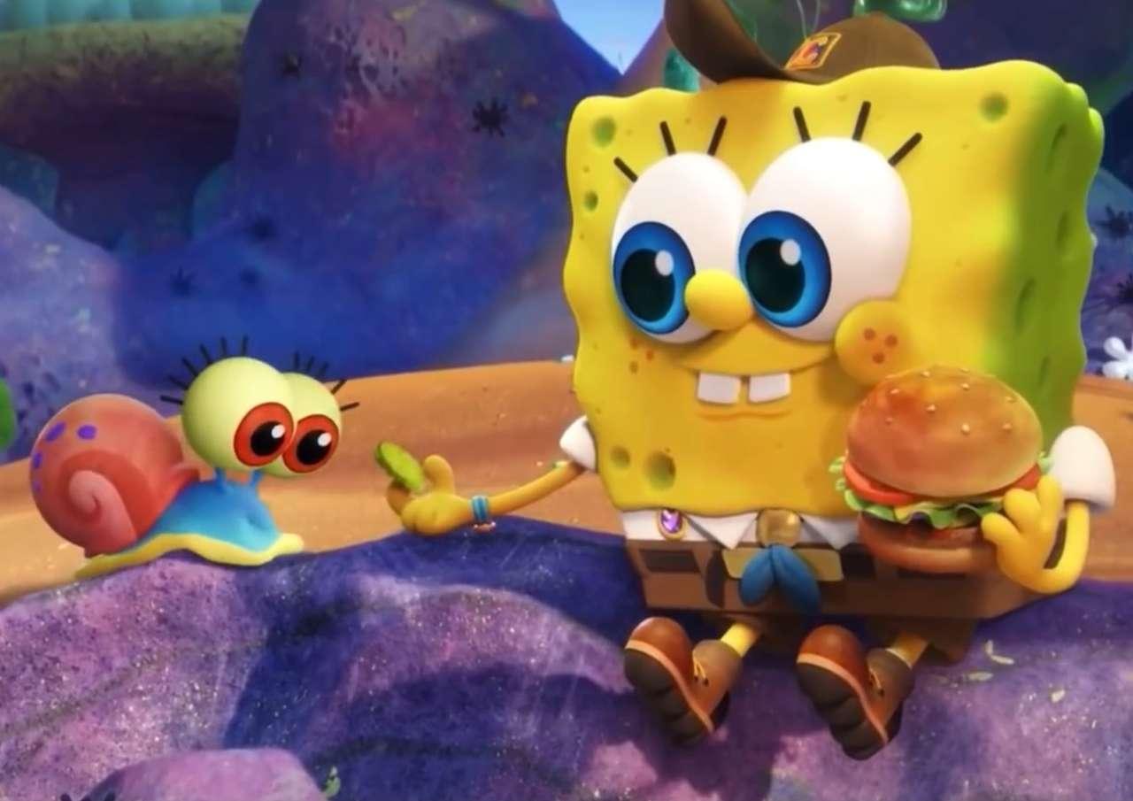 Fiatal spongebob és gary kirakós játék