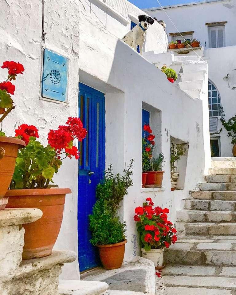 Isla griega tinos rompecabezas