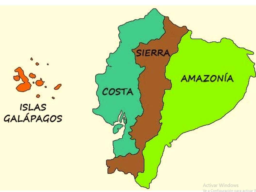 Regions of Ecuador jigsaw puzzle
