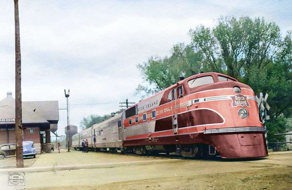 1945 - Rock Island Rocket. Faribault Depot, Minnes pussel