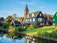 Marken - un petit village de pêcheurs aux Pays-Bas