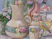 Romantyczna i kwiecista herbata