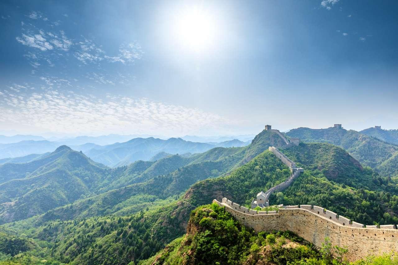 A Grande Muralha da China em Jinshanling quebra-cabeça online
