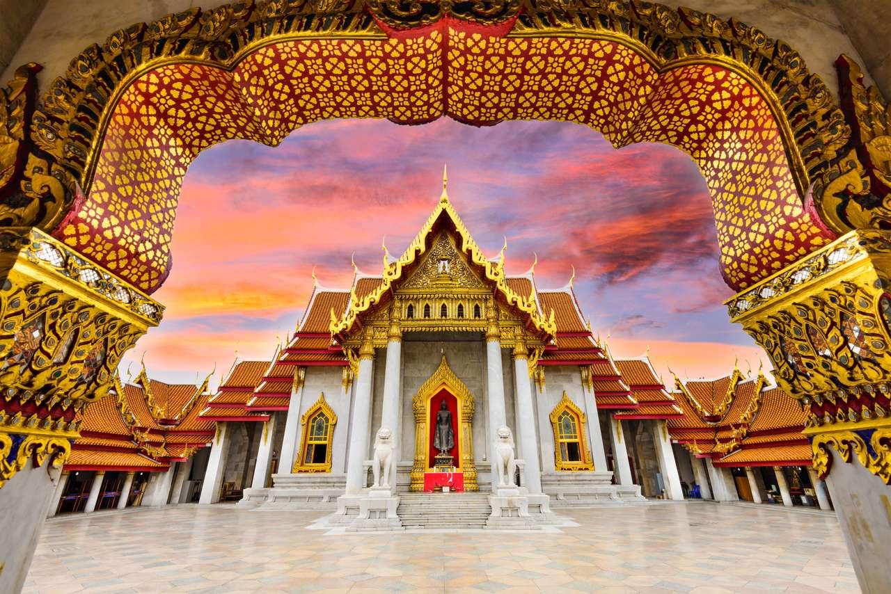 Marmurowa świątynia Bangkok, Tajlandia. puzzle online