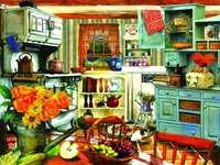 Cocina de la abuela rompecabezas