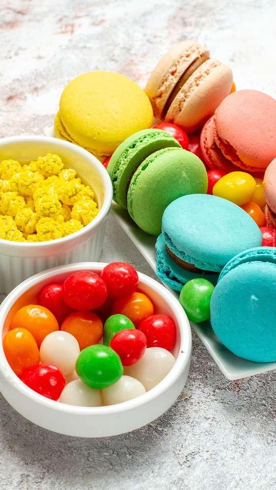 Makaroniki i słodycze puzzle