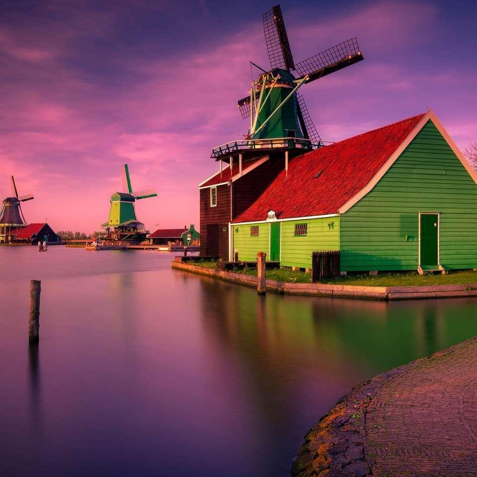 Windmills - sunset jigsaw puzzle