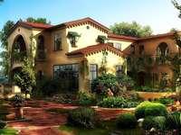 O casă mare cu o proprietate