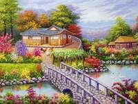 Favolosa vista colorata puzzle online