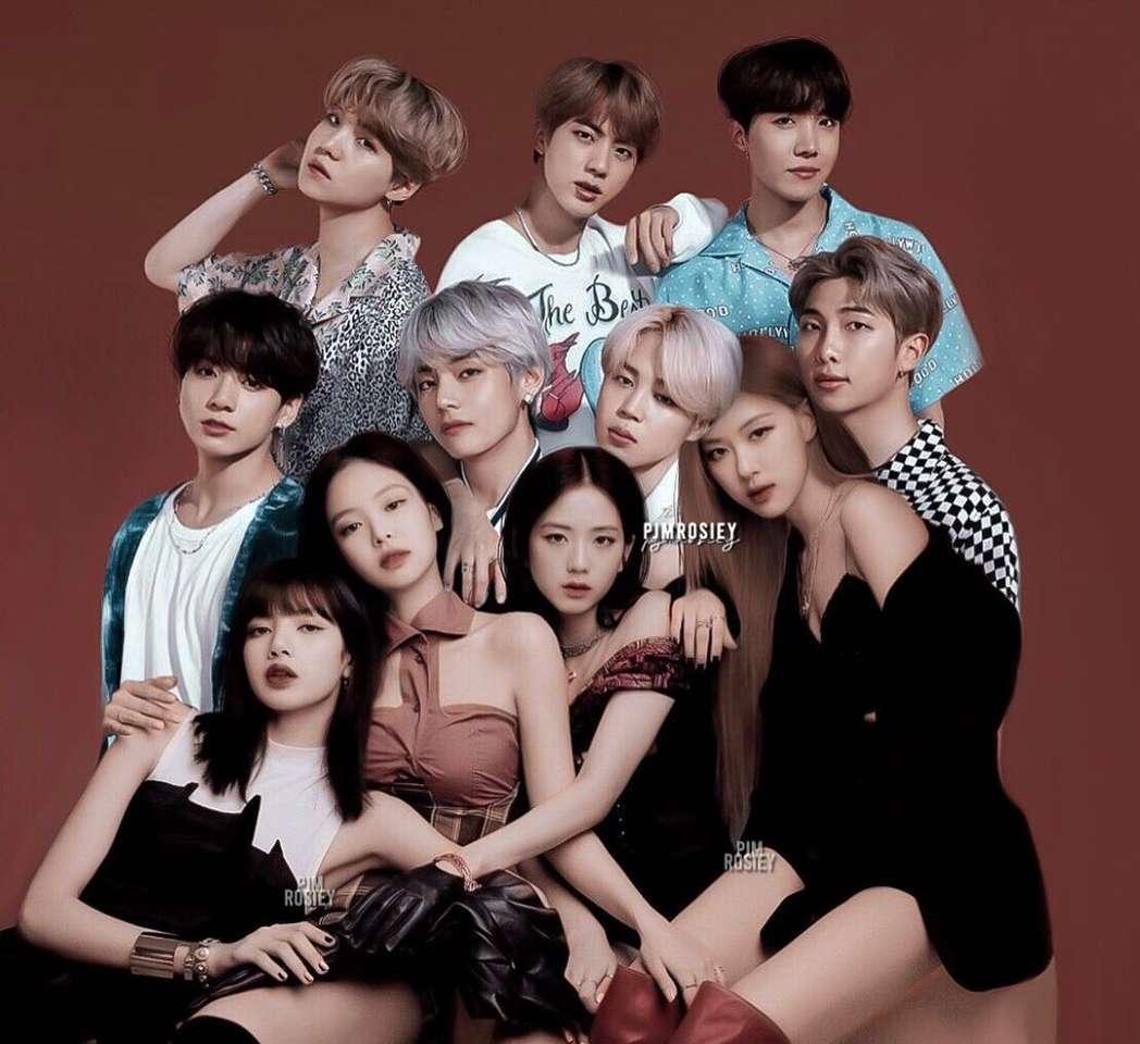 Lisa, Jennie, Jisoo, Rosé, Namjoon, Jin, Sucks, J-H