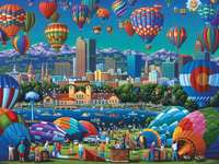 Baloon flight festival - Attraction in the town