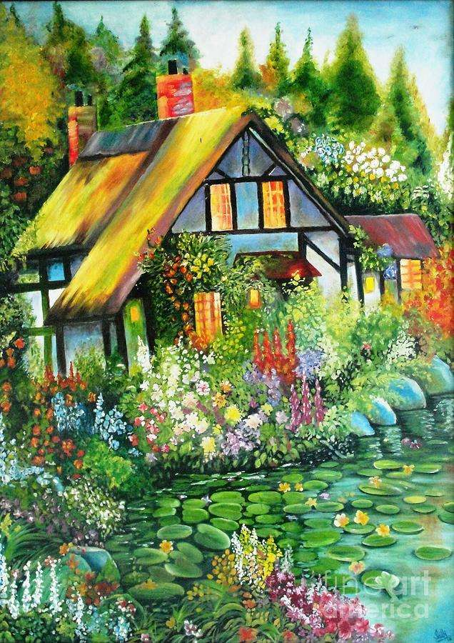 Reproduction - House on the lake jigsaw puzzle