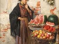 Mały sprzedawca owoców
