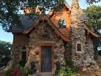 Stone and wood house