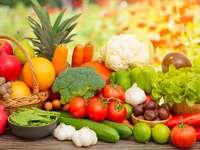 Vegetais e frutas do grupo