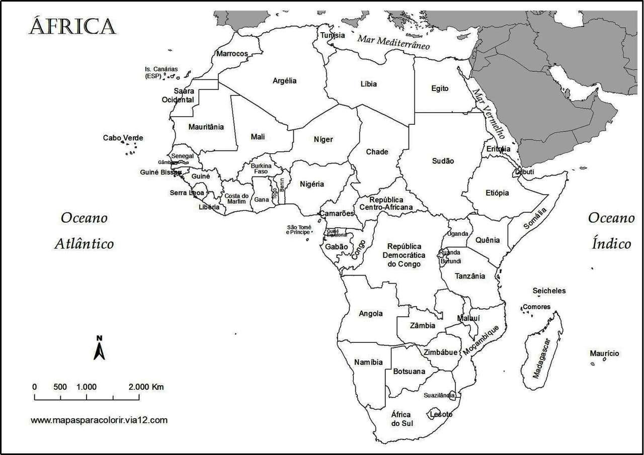 Rompecabezas de africa