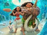 Plakat filmowy Disneya Moana puzzle