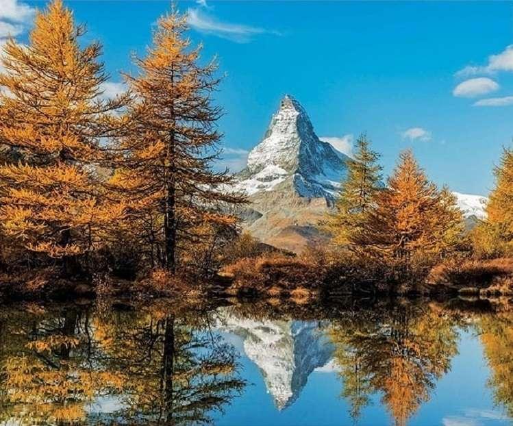 Švýcarsko na podzim. puzzle