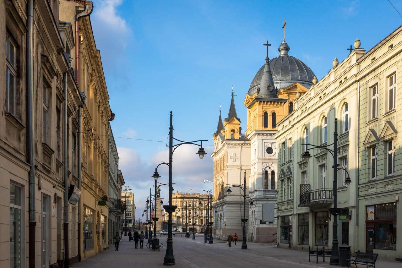 Εκκλησία στην οδό Piotrkowska στην πόλη Łódź