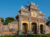 gateway in the city of Hue, Vietnam