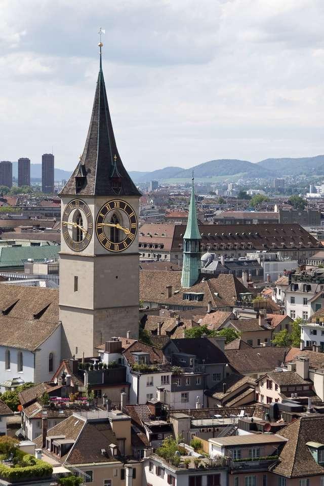 Biserica Sf. Petru din Zurich (Elveția) puzzle online