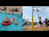 water basketball and beach basketball