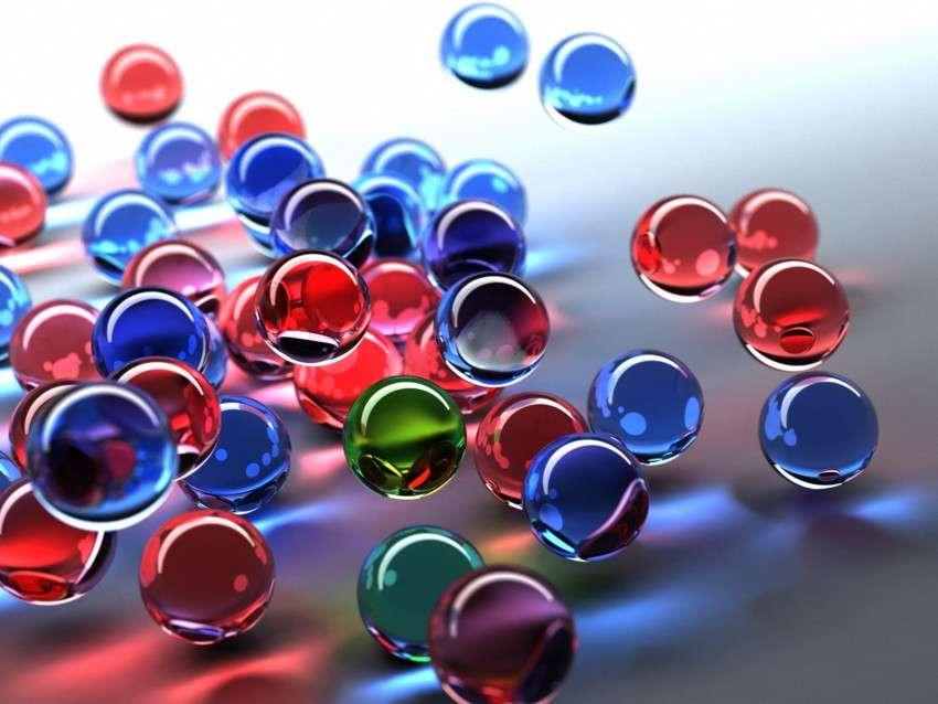 Grafică - bile de sticlă