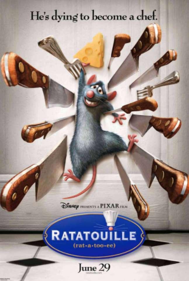 Plakat filmowy Ratatouille 2007 puzzle