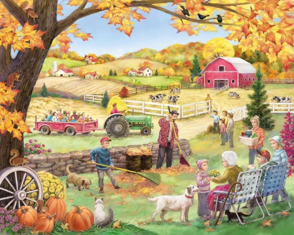 Trabajo agrícola en el campo rompecabezas